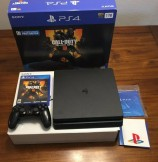 PlayStation 4 Slim (1TB) - PS4 Game Console w/ Controller