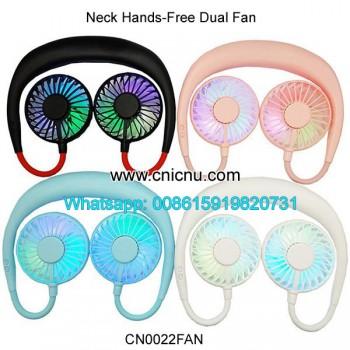 Portable Hands-free Neck USB Rechargeable Dual Mini Fan